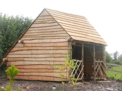Rustic structures rustic garden structures and buildings for Round garden buildings